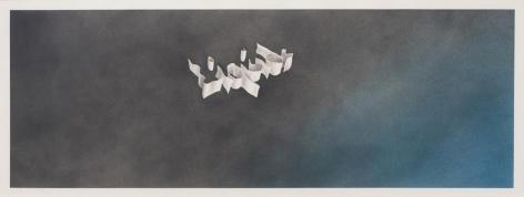 Liquids, 1971 Gunpowder and pastel on paper