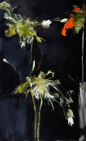 Foliage in Darkness Series (Orange Flower, Green Stem), 2007