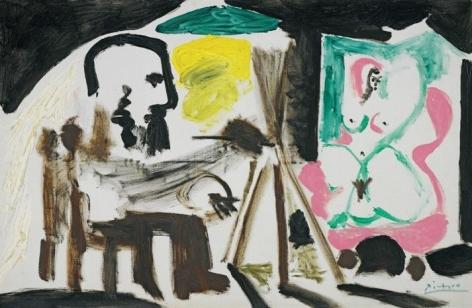 Pablo Picasso Le Peintre et son modèle, 1963