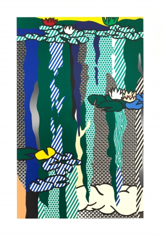 Roy Lichtenstein Water Lilies with Cloud, 1992