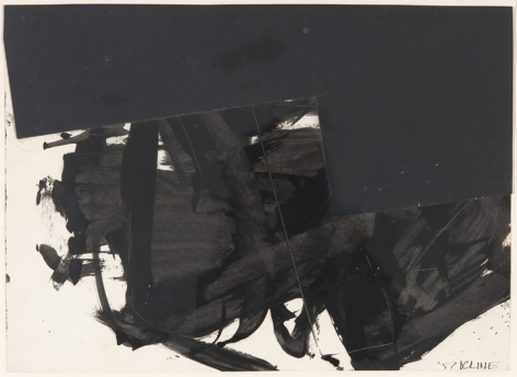 Franz Kline Untitled (Black and White Abstraction), 1957