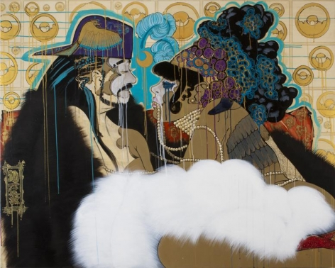 Majesty, 2011 Acrylic, pen, ink, marker and graphite on wood panel