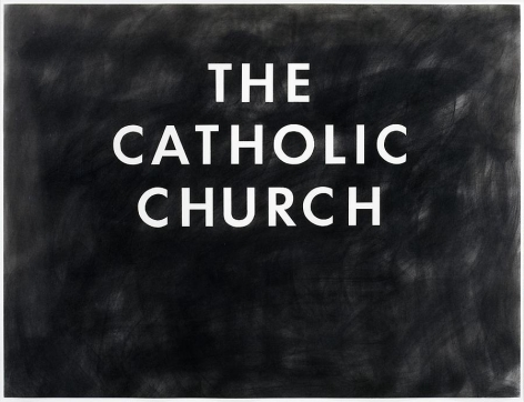 Ed Ruscha The Catholic Church, 1974