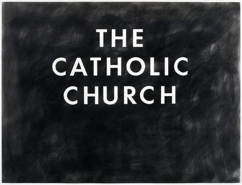 Ed Ruscha The Catholic Church, 1974