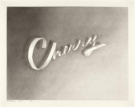 Cherry, 1967 Gunpowder on paper