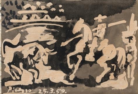 Pablo Picasso (1881-1973), Scène de Tauromachie, 1959