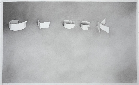 Clock, 1968 Gunpowder on paper