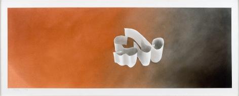 Sub, 1970 Gunpowder and pastel on paper