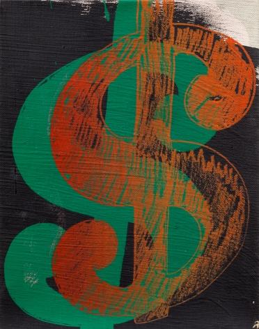 Andy Warhol Dollar Sign, 1981