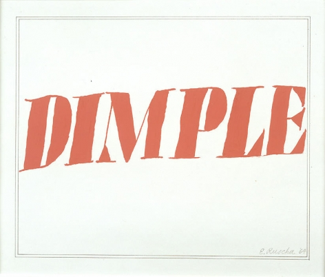 Dimple, 1964 Tempera and ink on paper