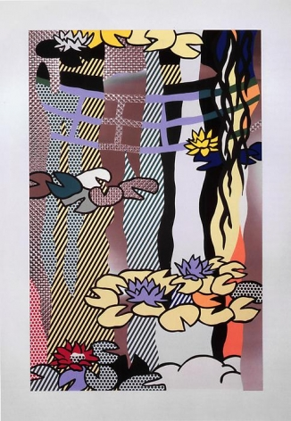 Roy Lichtenstein Water Lilies with Japanese Bridge, 1992