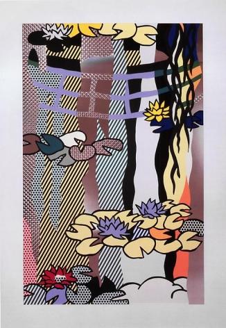 Roy Lichtenstein Water Lilies with Japanese Bridge, 1992