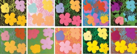 Andy Warhol Flowers, 1970