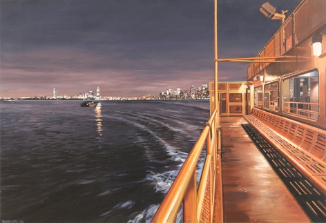Richard Estes Staten Island Ferry with a Distant View of Manhattan and New Jersey, 2011