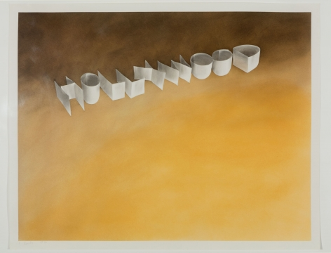 "Extensive survey of Ed Ruscha's ""Ribbon Word"" drawings on view at Edward Tyler Nahem Fine Art"