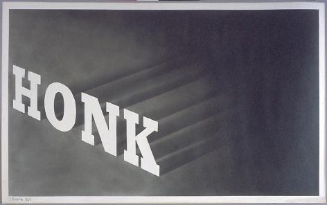 Honk, 1964 Powdered graphite on paper