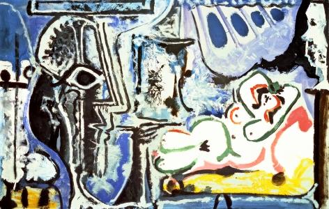 Pablo Picasso (1881-1973), Le peintre et son modèle, 1963-1964