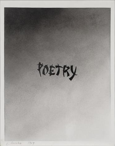Ed Ruscha Poetry, 1969