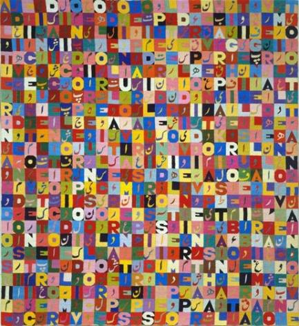 Alighiero Boetti Alternandosi e Dividendosi Seicento Veinticinque Lettere dai Cento Colori i