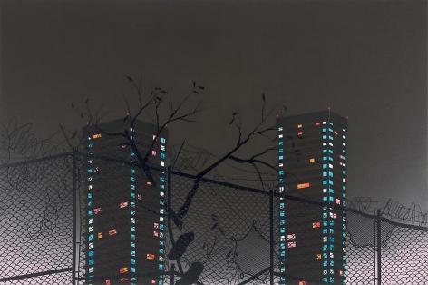 Homeward, 2011 Acrylic on canvas over panel
