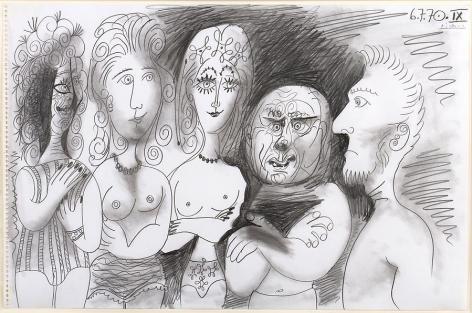 Pablo Picasso Cinq Personnages, 1970