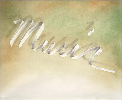 Music, 1969 Pastel and pencil on paper