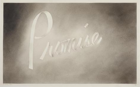 Promise, 1967 Gunpowder on paper