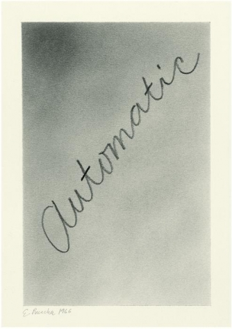Automatic, 1966 Graphite and pencil on paper