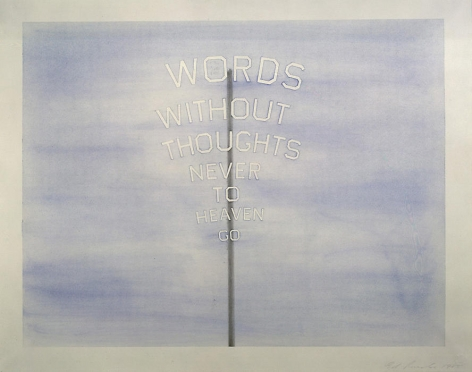 Ed Ruscha Words #2 (words on a stick), 1985