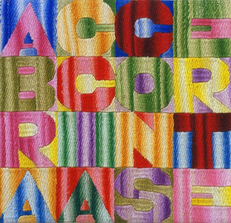 Alighiero Boetti A braccia conserte (With arms folded), 1994