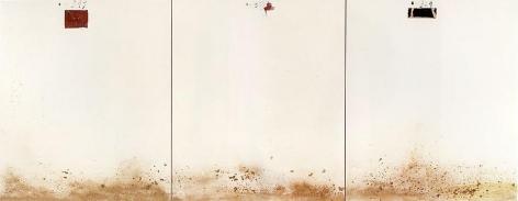 Antoni Tàpies Triptych Amb Terra, 1976