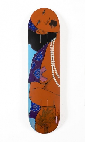 Sweetie, 2013 Acrylic on plywood skateboard deck