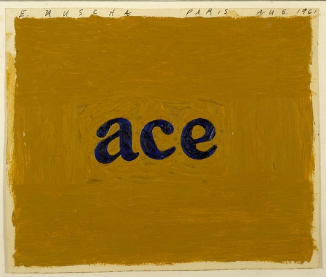 Ace, 1961 Oil on paper