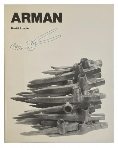 Arman UNIQUE drawing on catalogue Arman: L'âge de fer et ses monuments,  Alternate Projects