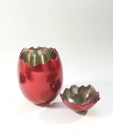Jeff Koons, Cracked Egg (Red)