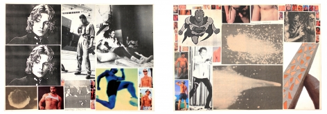 Hudinilson Jr. , Untitled, 1980/2008 UNIQUE double sided collage on paper, SIGNED, Alternate Projects