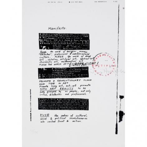 Jon Hendricks, FLUXFAX, Alternate Projects
