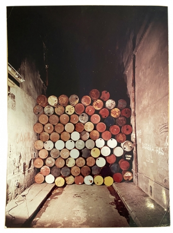 Christo, Barrels Wall Rue Visconti, Alternate Projects