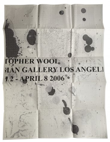 Christopher Wool, Gagosian, Los Angeles, poster, Alternate Projects