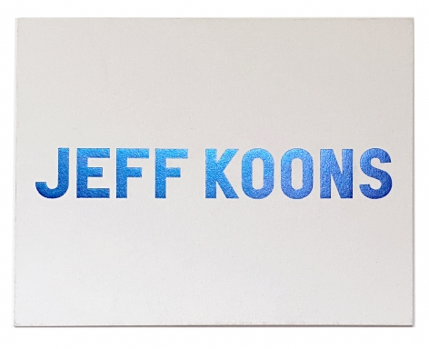 Jeff Koons: New Paintings, 2010 Exhibition announcement card, Alternate Projects