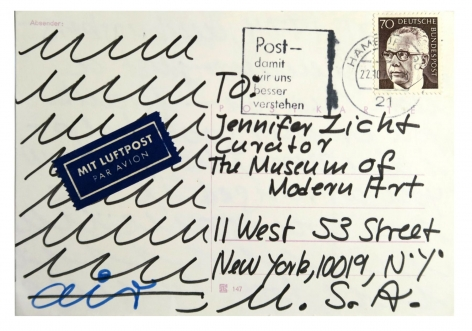 Hanne Darboven, mail art, Alternate Projects