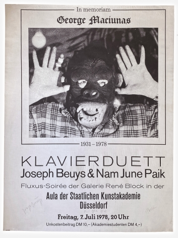 Joseph Beuys and Nam June Paik