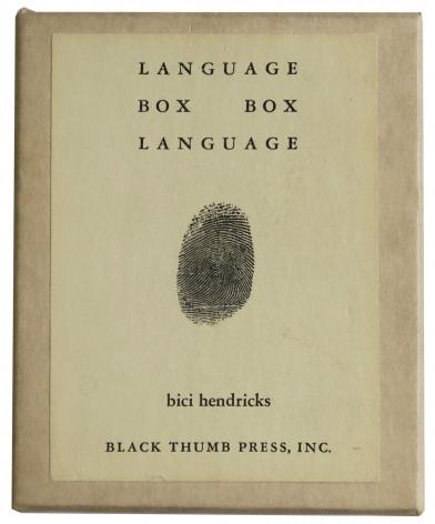 Bici Hendricks Language Box, Box Language, Alternate Projects