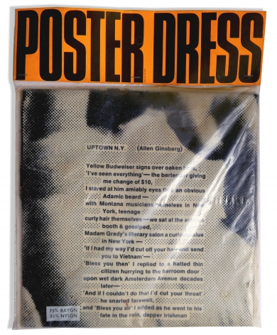 Poster Paper Dress by Harry Gordon with Allen Ginsberg Poem, First Edition, Alternate Projects