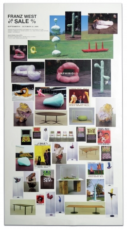 Franz West, % Sale % poster, SIGNED, Alternate Projects