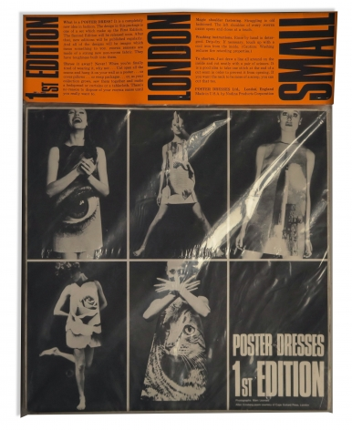 Poster Paper Dress by Harry Gordon with Allen Ginsberg Poem, First Edition