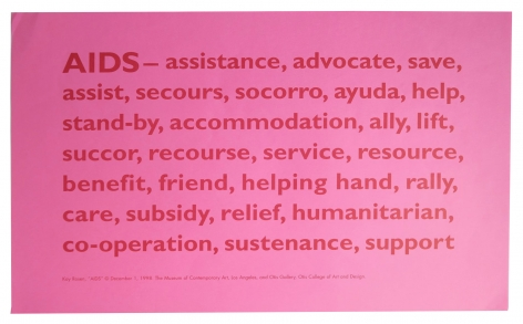 Kay Rosen AIDS handbill, Alternate Projects