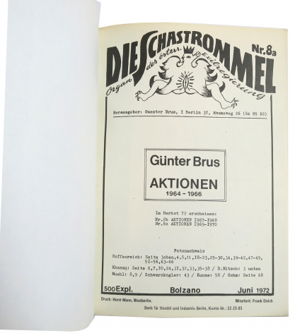 Günter Brus Die Schastrommel No. 8a, Alternate Projects