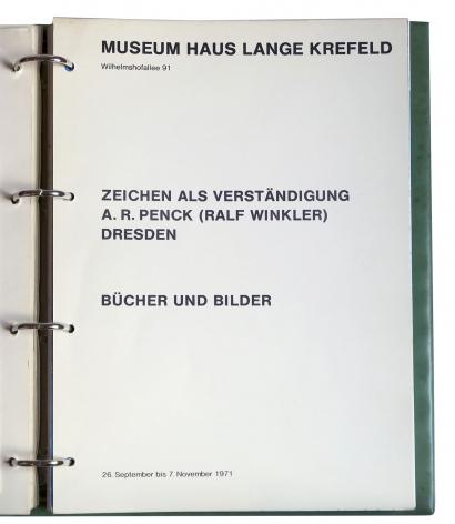 A. R. Penck (Ralf Winkler), Zeichen als Verständigung, Bücher und Bilder /Sign as an Understanding, Books and Pictures,