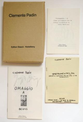 Clemente Padín, Omaggio A Beuys; Instrumentos/74; Instruments/II